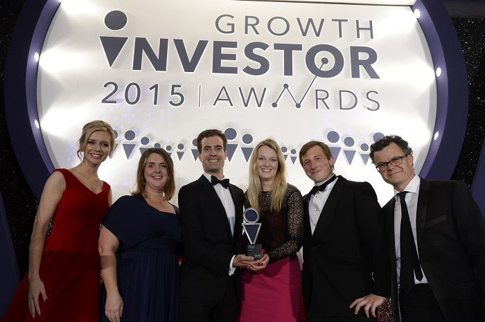 SyndicateRoom with the award at Growth Investor Awards 2015