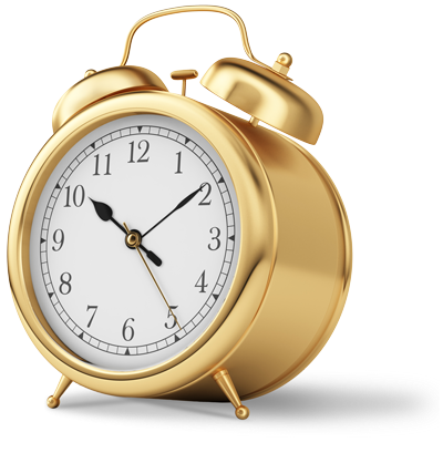 A golden clock