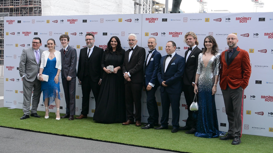 The Bromley Boys film premiere cast photo